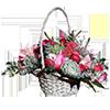 Люкс корзинки с экзотическими цветами