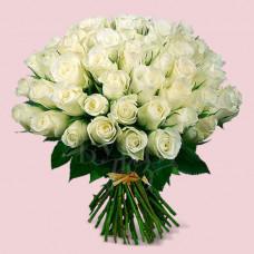Букет из 51 розы Аваланч Премиум