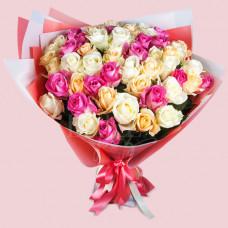 """Букет из 51 розы """"Фантазия"""""""