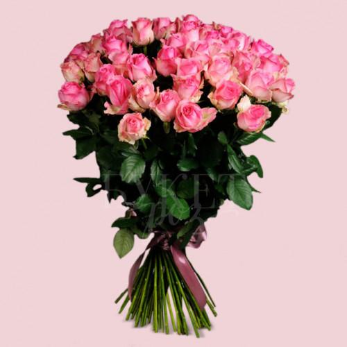 Букет из 51 розы Кэнди Аваланч