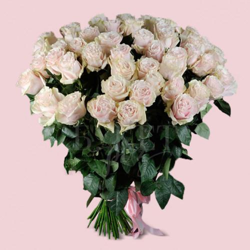 Букет из 51 розы Пинк Мондиаль