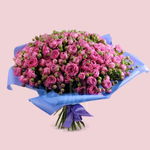 Букет из 51 розы спрей Мисти Бабблз