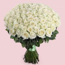 Букет из 101 розы Аваланч Премиум