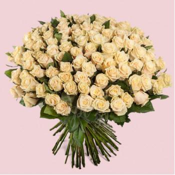 Букет из 101 розы Пич Аваланч