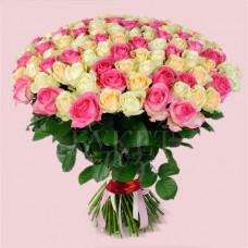 Букет микс из 123 роз